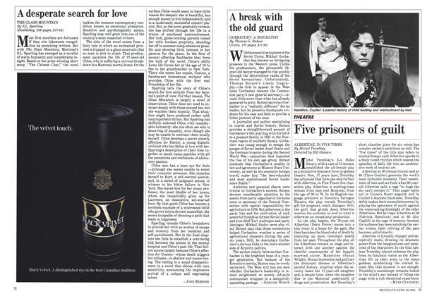 Article Preview: Five prisoners of guilt, April 1985 | Maclean's