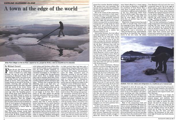 Article Preview: A town at the edge of the world, April 1985 | Maclean's