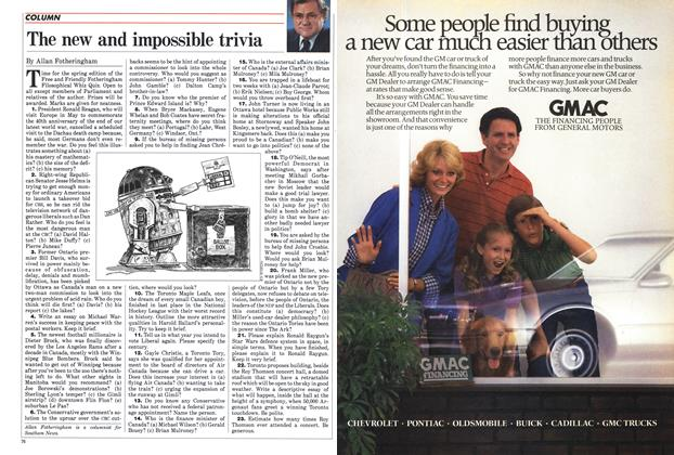 Article Preview: The new and impossible trivia, April 1985 | Maclean's