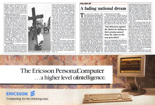 Article Preview: A fading national dream, April 1985 | Maclean's