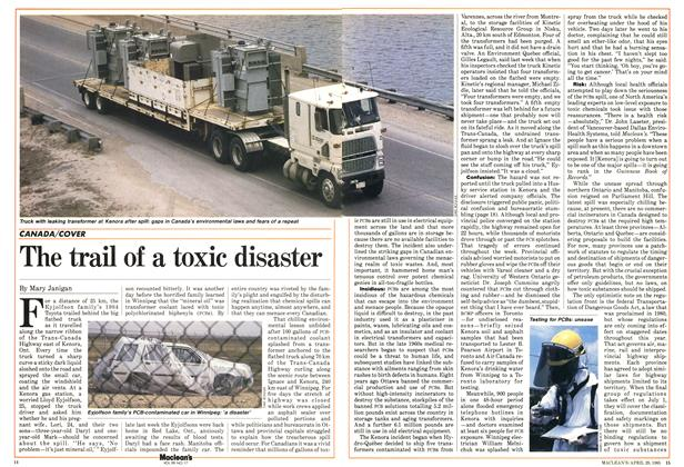 Article Preview: The trail of a toxic disaster, April 1985 | Maclean's