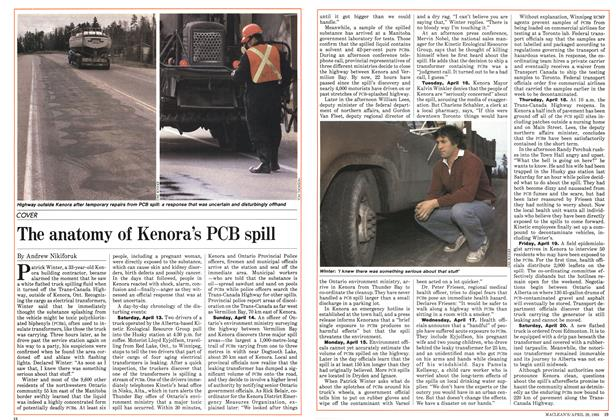 Article Preview: The anatomy of Kenora's PCB spill, April 1985 | Maclean's