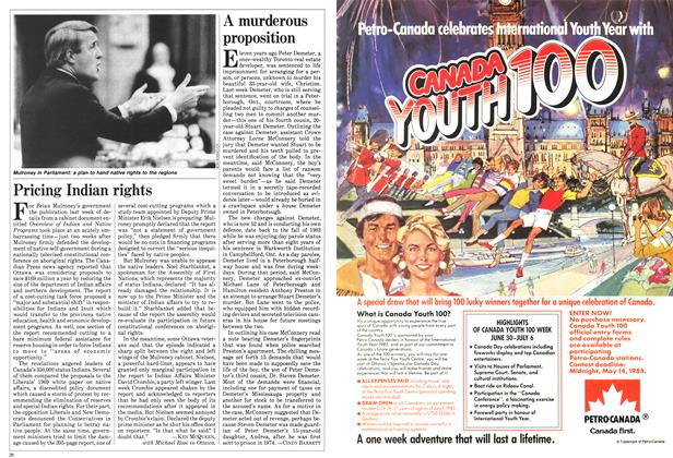 Article Preview: A murderous proposition, April 1985 | Maclean's