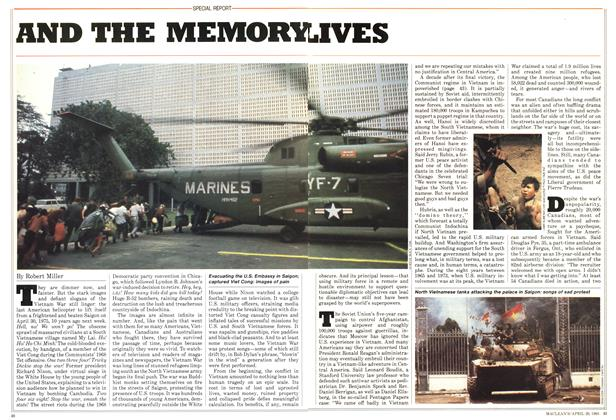 Article Preview: ND THE MEMORY LIVES, April 1985 | Maclean's
