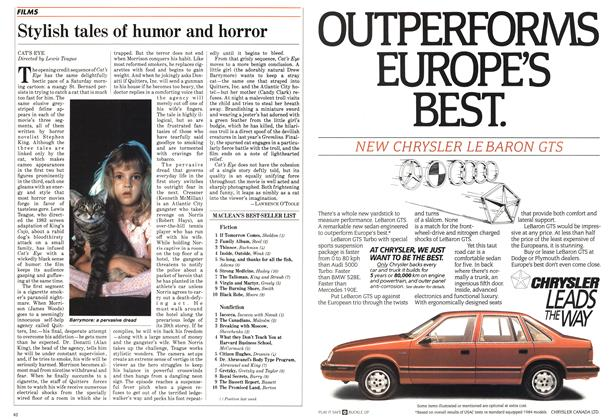 Article Preview: Stylish tales of humor and horror, April 1985 | Maclean's
