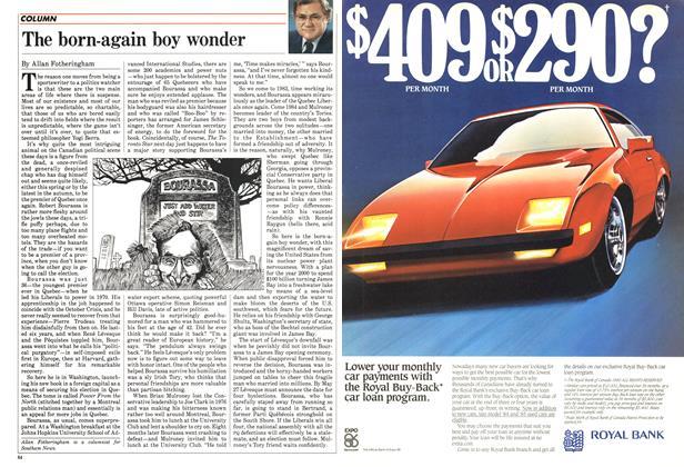 Article Preview: The born-again boy wonder, April 1985 | Maclean's