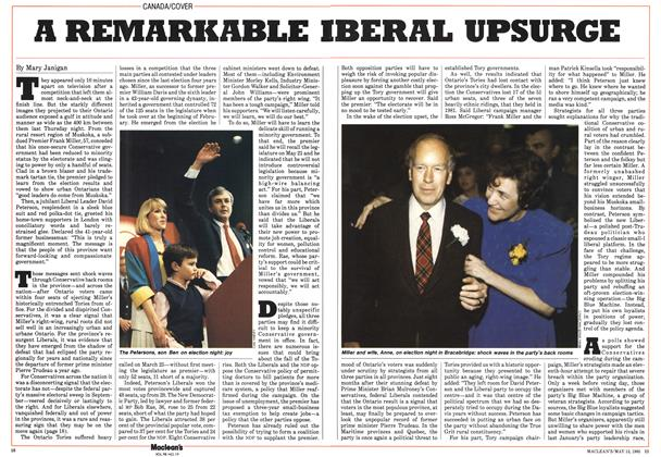 Article Preview: A REMARKABLE BERAL UPSURGE, May 1985 | Maclean's