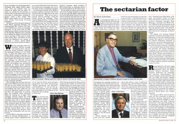 Article Preview: The sectarian factor, May 1985 | Maclean's