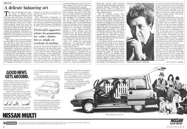 Article Preview: A delicate balancing act, May 1985 | Maclean's