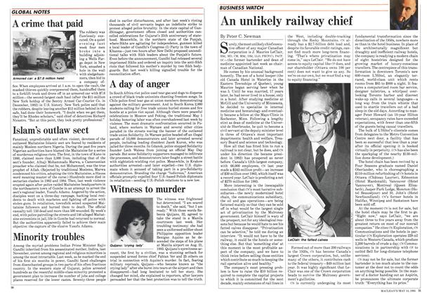 Article Preview: An unlikely railway chief, May 1985 | Maclean's