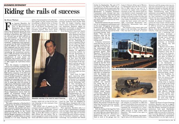 Article Preview: Riding the rails of success, May 1985 | Maclean's