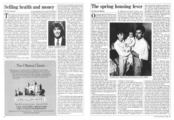 Article Preview: Selling health and money, May 1985 | Maclean's