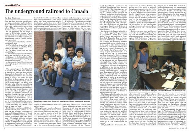 Article Preview: The underground railroad to Canada, May 1985 | Maclean's