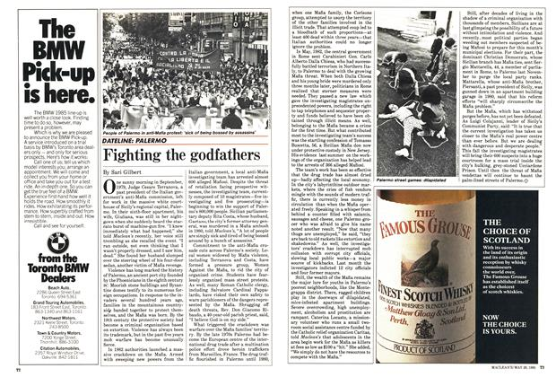 Article Preview: Fighting the godfathers, May 1985 | Maclean's