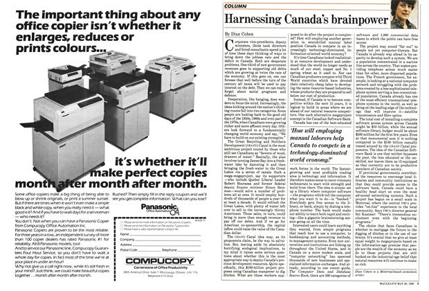 Article Preview: Harnessing Canada's brainpower, May 1985 | Maclean's