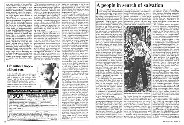 Article Preview: A people in search of salvation, May 1985 | Maclean's