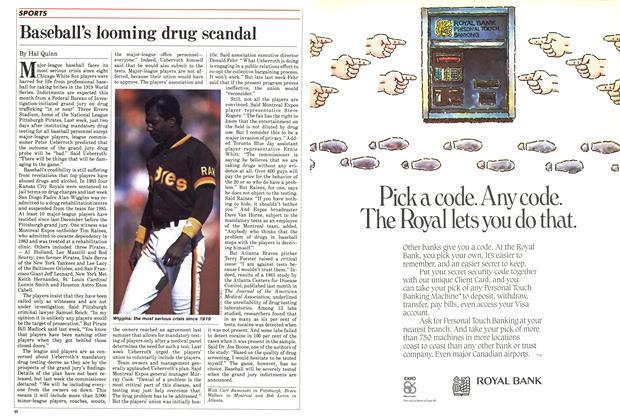 Article Preview: Baseball's looming drug scandal, May 1985 | Maclean's