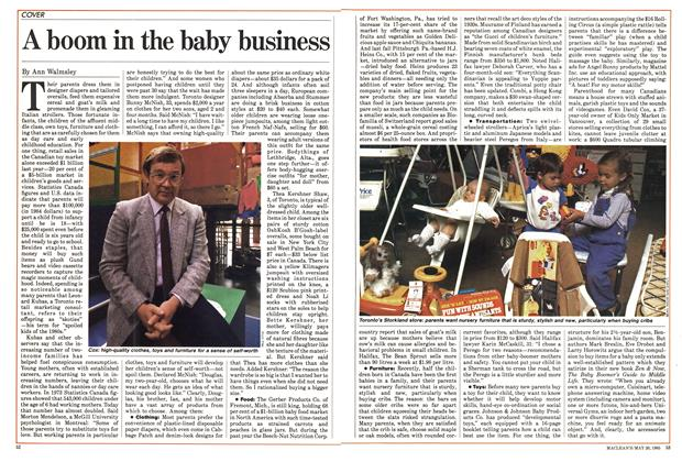 Article Preview: A boom in the baby business, May 1985 | Maclean's
