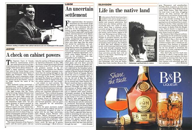 Article Preview: Life in the native land, May 1985 | Maclean's