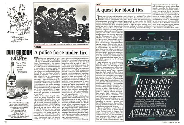 Article Preview: A quest for blood ties, May 1985 | Maclean's