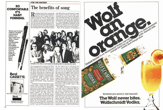 Article Preview: The benefits of song, May 1985 | Maclean's