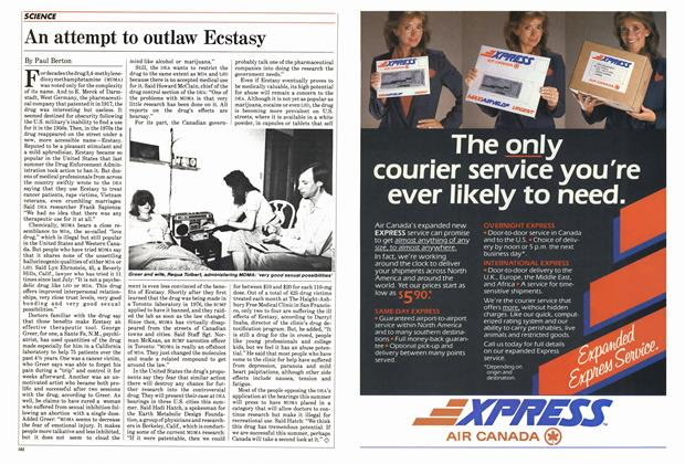 Article Preview: An attempt to outlaw Ecstasy, May 1985 | Maclean's