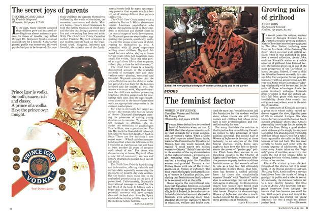 Article Preview: Growing pains of girlhood, May 1985 | Maclean's