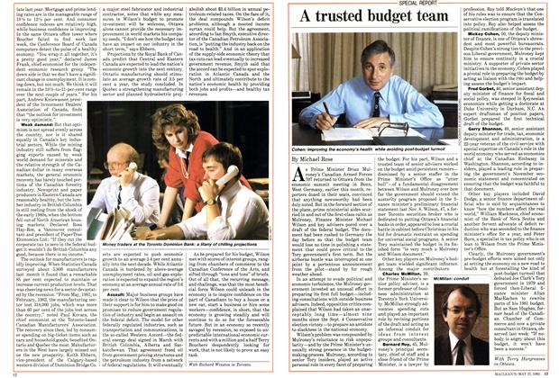 Article Preview: A trusted budget team, May 1985 | Maclean's