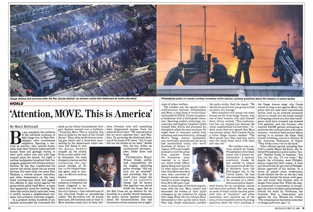 Article Preview: 'Attention, MOVE. This is America', May 1985 | Maclean's