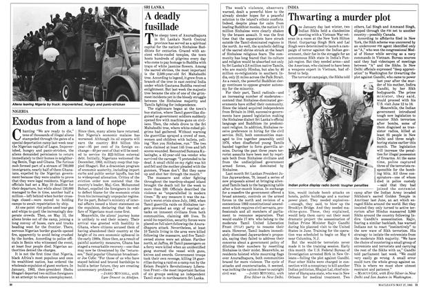 Article Preview: Thwarting a murder plot, May 1985 | Maclean's