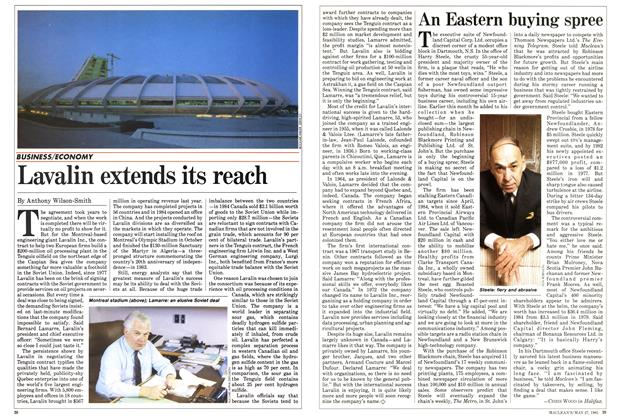 Article Preview: An Eastern buying spree, May 1985 | Maclean's