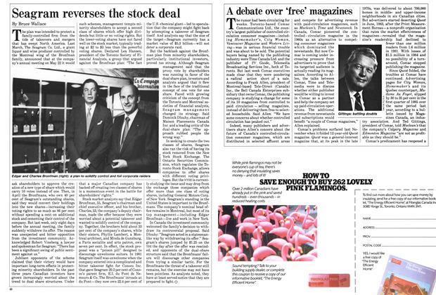 Article Preview: Seagram reverses the stock deal, May 1985 | Maclean's