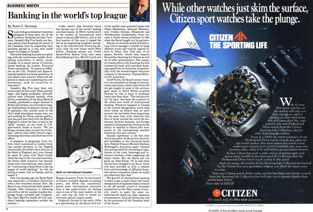 Article Preview: Banking in the world's top league, May 1985 | Maclean's