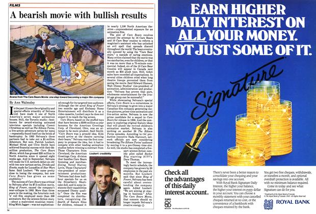 Article Preview: A bearish movie with bullish results, May 1985 | Maclean's