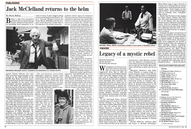 Article Preview: Legacy of a mystic rebel, May 1985 | Maclean's