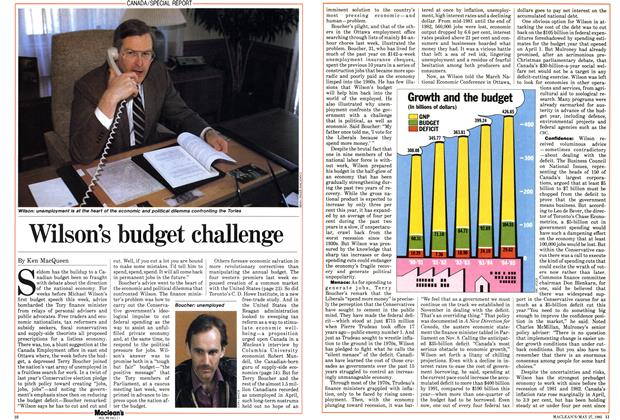 Article Preview: Wilson's budget challenge, May 1985 | Maclean's