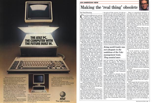 Article Preview: Making the 'real thing' obsolete, June 1985 | Maclean's