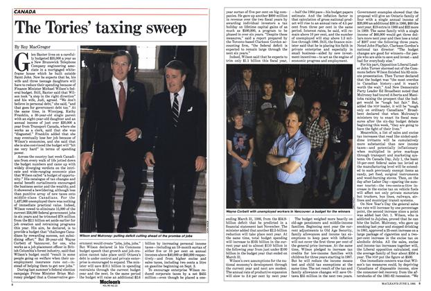 Article Preview: The Tories' taxing sweep, June 1985 | Maclean's