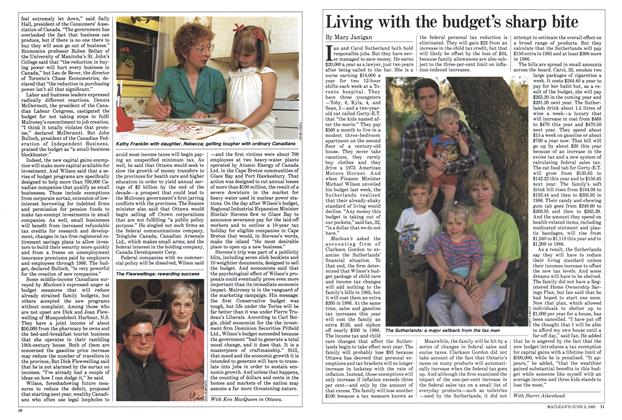 Article Preview: Living with the budget's sharp bite, June 1985   Maclean's