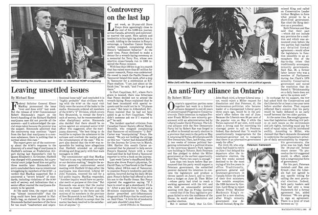 Article Preview: An anti-Tory alliance in Ontario, June 1985 | Maclean's