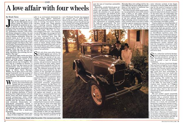 Article Preview: A love affair with four wheels, June 1985 | Maclean's
