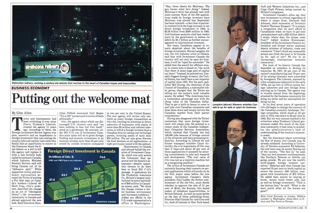 Article Preview: Putting out the welcome mat, June 1985 | Maclean's