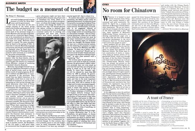 Article Preview: No room for Chinatown, June 1985 | Maclean's