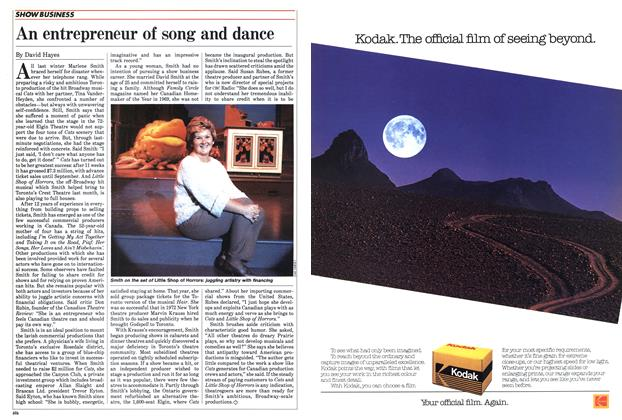 Article Preview: An entrepreneur of song and dance, June 1985 | Maclean's