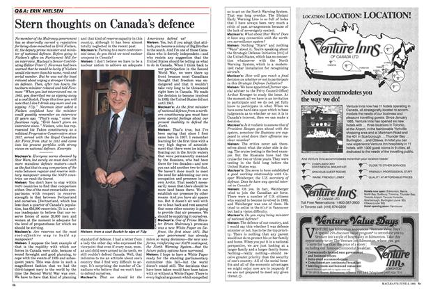 Article Preview: Stern thoughts on Canada's defence, June 1985 | Maclean's