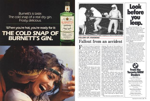 Article Preview: Fallout from an accident, June 1985 | Maclean's