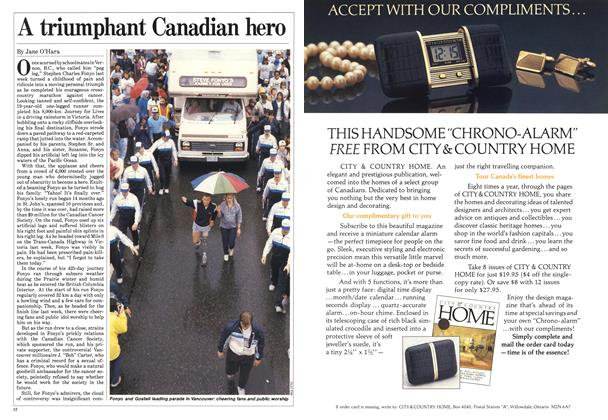 Article Preview: A triumphant Canadian hero, June 1985 | Maclean's
