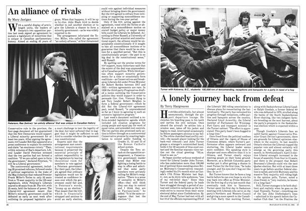 Article Preview: A lonely journey back from defeat, June 1985 | Maclean's