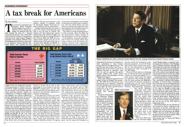 Article Preview: A tax break for Americans, June 1985 | Maclean's