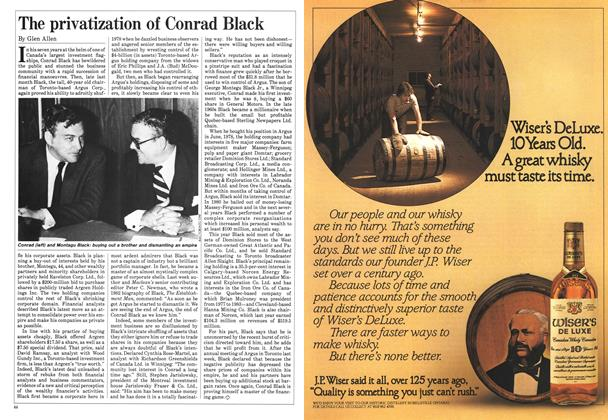 Article Preview: The privatization of Conrad Black, June 1985 | Maclean's